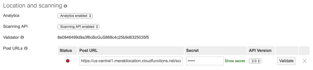 Scanning API Receiver with Firebase DB - Cisco DevNet