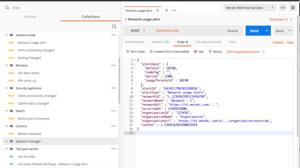 Meraki Webhooks with json-server - Cisco DevNet